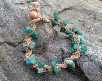 Amazonite Hemp Bracelet