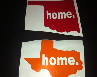 6 inch State home vinyl decal