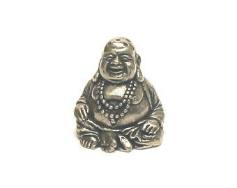 The Laughing Buddha Thimble Pewter Collectible Thimble