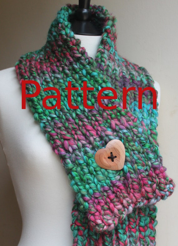 Knitting Pattern For Scarflette : Scarf Knitting Pattern pdf Love Heart Scarflette
