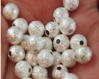 Stardust Beads-6mm round 25 pieces (MW6St)