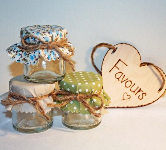 Country Style Mini Jam Jar Wedding Favours DIY Wedding