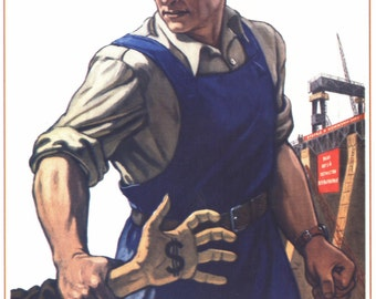 Stalin, Lenin, Propaganda poster, Soviet art, Old poster, 029