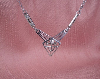Art Deco Necklace Sterling Silver