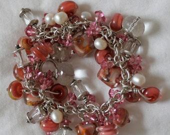 Apricot Blush Charm Bracelet
