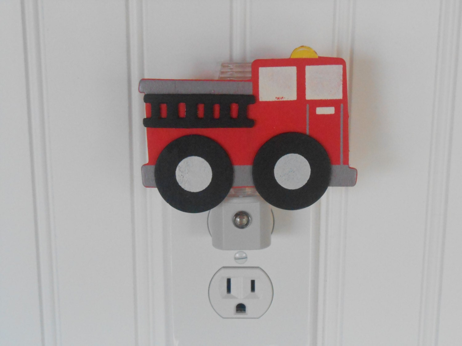 fire truck night light night lights nursery decor fire. Black Bedroom Furniture Sets. Home Design Ideas