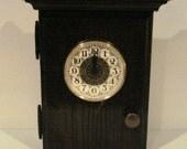 Wooden Key Cabinet Clock - Oak