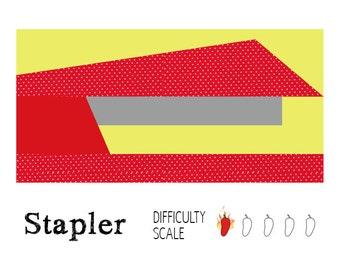 Stapler paper pieced quilt pattern in PDF