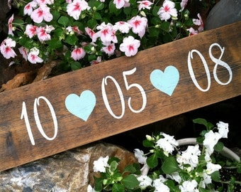 SAVE THE DATE Sign 5 1/2 x 23 Rustic Wedding Signs