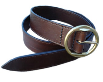LEATHER HANDMADE BELT / Leather Belt /  Belt Handmade / Belt Accessories / Belt Men / Belt Women / Brown Leather Belt.