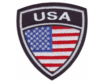 US Crest Flag Embroidered Patch