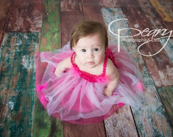 7ft x 5ft Family Photography Backdrop or Wood Flooring for Photoshoots - Painted Wood Floor Drop -  Item 565