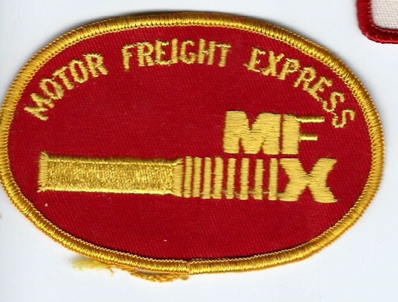 Motor Freight Express Driver Employee Patch 2 1 2x3 3 4 Oval