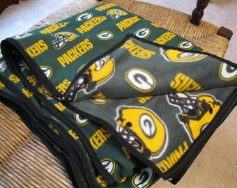 Handmade Green Bay Packers Blanket