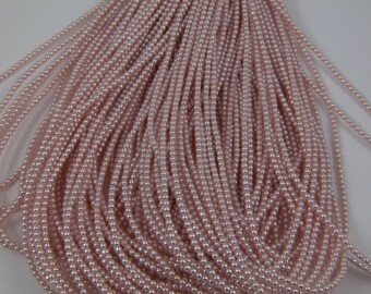 3mm Czech Glass Pearl - 70424 Soft Pink x 300pcs