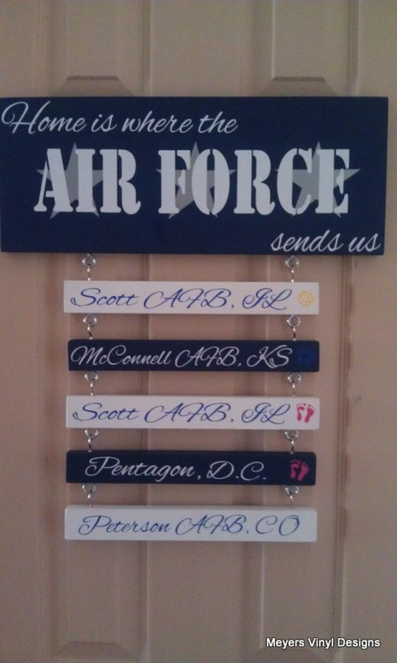 Home Is Where The Air Force Sends Us Air Force Vinyl Sticker