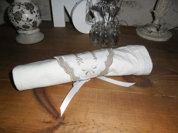 Instant download machine embroidery ith napkin ring from