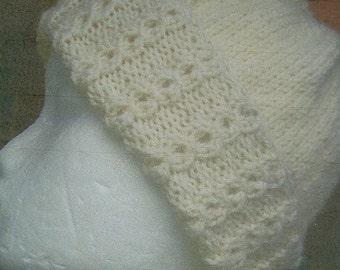 Hat with Lacey Cable Band