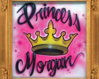 Princess Crown airbrush t-shirt