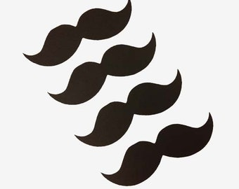 Mustache Die Cuts (set of 50) - 3 Inch Mustache Cut Outs