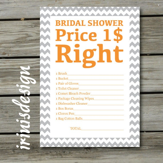 price is right bridal shower game template items similar to bridal shower game the price is right