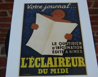 "Vintage Reproduction of Original French Poster 12"" x 16"""