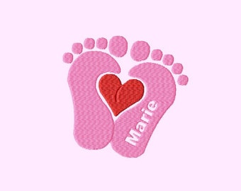 Embroidery pattern - Baby feet