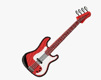 Embroidery pattern - bass guitar