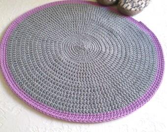 Runder grauer teppich  Häkeln Sie Teppich runder Teppich Teppich stricken