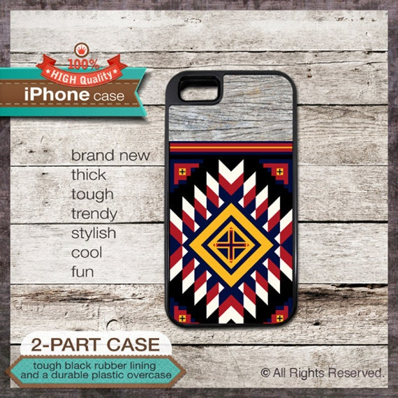 iPhone 6, 6+, 5 5S, 5C, 4 4S, Samsung Galaxy S3, S4 - Tribal Navajo Pattern - Design Cover 33