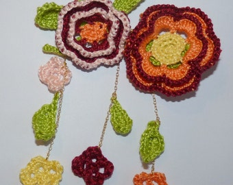 PIN crochet flowers
