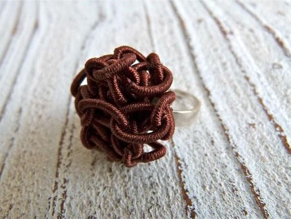 "Ring ""Tangle"" brown"
