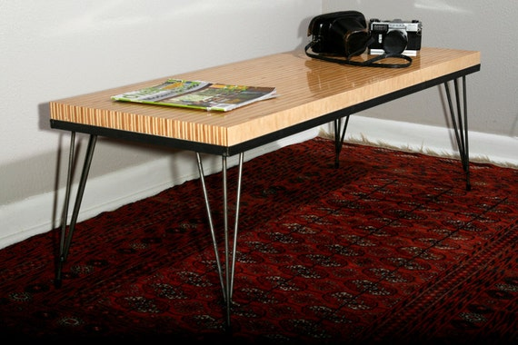 Items Similar To Maple Ply Coffee Table With Hairpin Legs  Urban, Mid  Century Modern On Etsy
