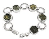 Ancient coin jewelry,Widow's mite coins,set in silver bracelet.Regular price 570 USD,now at :
