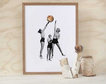 the best of physical education (a3 vintage retro style space galaxy planet sport giclee art print)