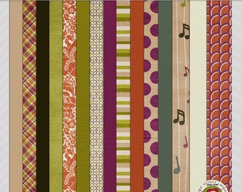 Playing Our Song Digital Paper Scrapbooking Set