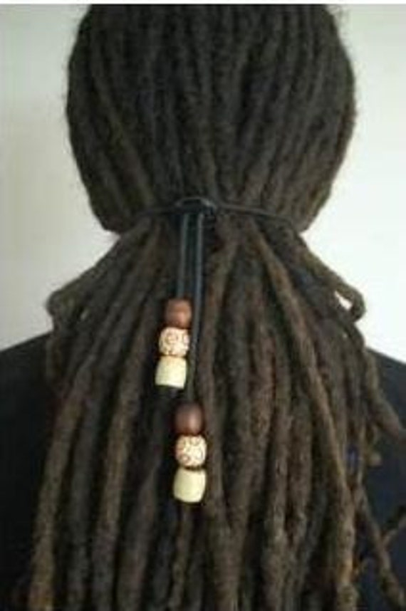 Dreadlock Hair Tie For Dreads Elastic Adjustable With Beads