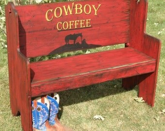Santa Fe Style Bench Seat. Western Bench, Bench, Rustic Bench