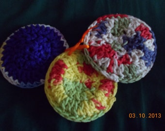 Crochet Cotton and Mesh Scrubbies