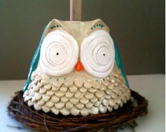 Big eyed owl plunger cover/ toilet brush holder