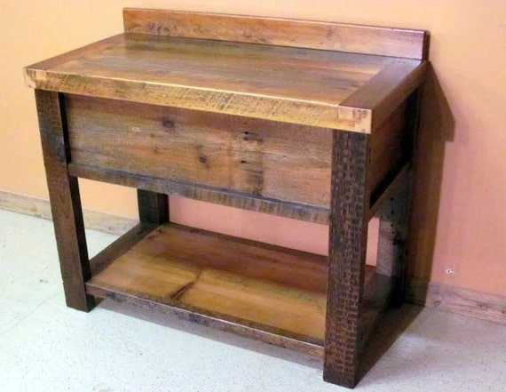 Barnwood Vanity Old Fashioned Wash Stand