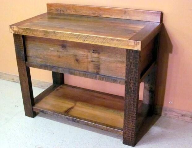 Barnwood Vanity Old Fashioned Wash Stand