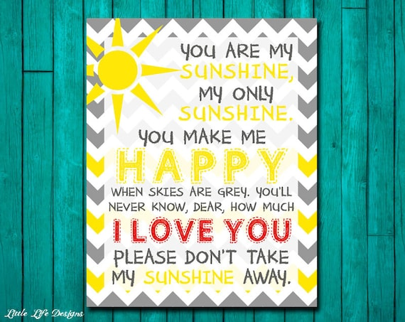 You are my sunshine wall art you are my sunshine lyrics my you are my sunshine wall art you are my sunshine lyrics my only sunshine yellow and gray playroom decor girls wall art teen room art stopboris Gallery