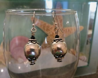 Bali Silver earrings, sterling silver jewelry