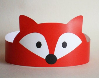 Fox Paper Crown - Printable