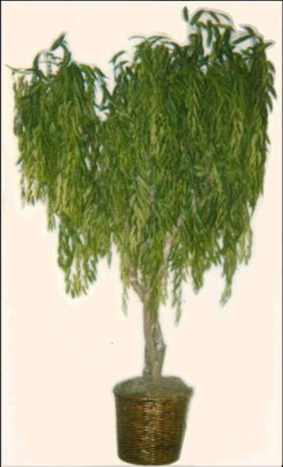 One 8 39 Artificial Weeping Willow Tree In By Silktreewarehouse