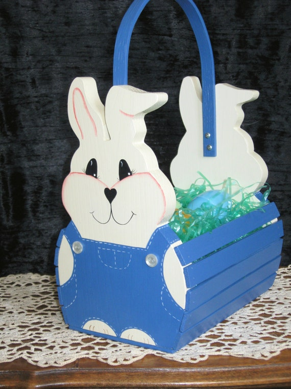 handmade easter baskets handmade children s wooden easter basket blue 9874