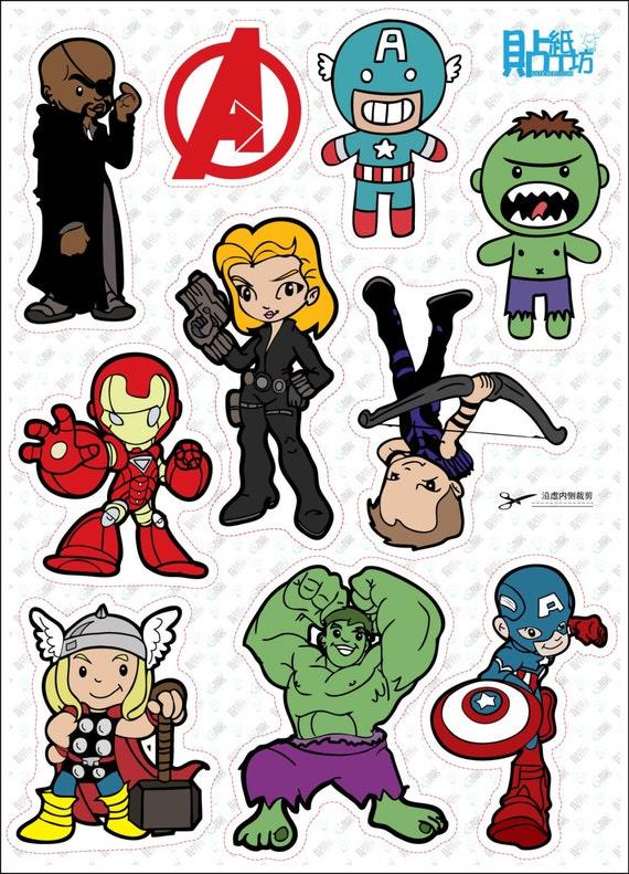 Hulk Chibi Chibi Hulk Avengers a Sheet of