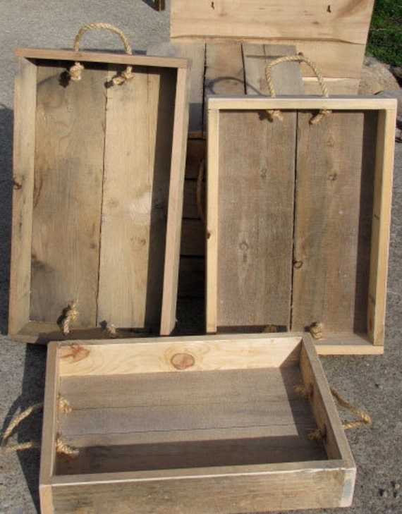 Items similar to Reclaimed Pallet Tray, Great Nautical ...