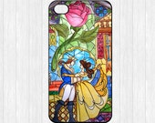 Beauty and the Beast iPhone 4 Case,Flowers Rose iPhone 4 4g 4s Hard Plastic Rubber Case,cover skin case for iphone 4/4g/4s cases,More styles